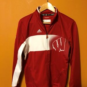 WISCONSIN BADGERS ADIDAS CLIMAWARM LADIES FULL ZIP